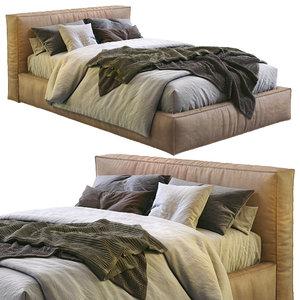 3D flexteam leather bed slim model