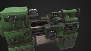 3D old lathe model