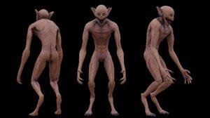monster humanoid 3D model