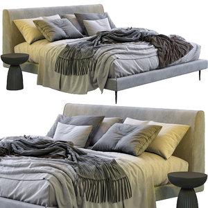 boconcept bed arlington 3D