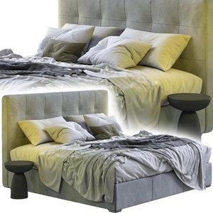 boconcept bed mezzo 3D