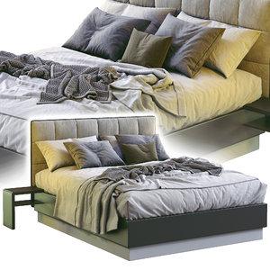 boconcept bed lugano 3D model