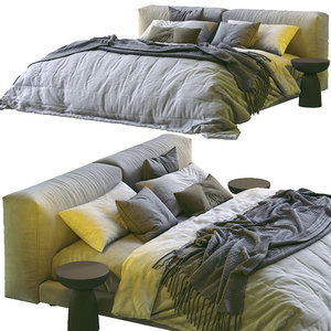 3D model softwall bed living divani