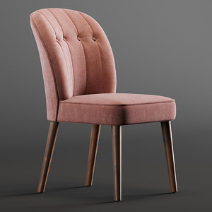 margot chair pink 3D model