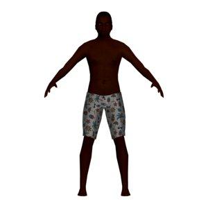 man swimsuit 3D model