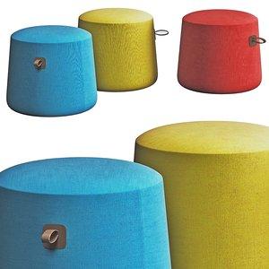 carry pouf 3D model