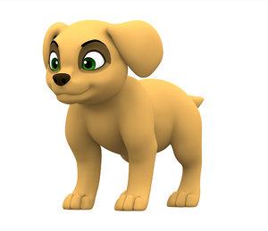 3D labrador puppy model
