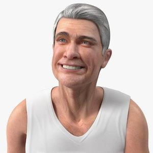 3D old man underwear rigged model