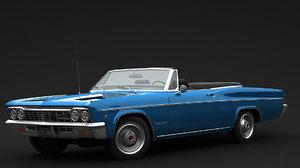 3D convertible chevrolet 1966