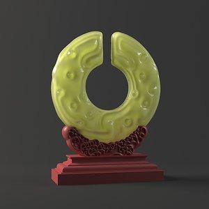 jade que ornaments wall model