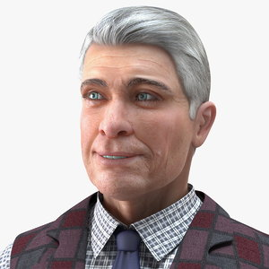 elderly man casual wear 3D model
