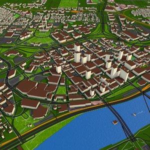 3D model october 2020 building city