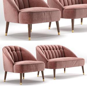 3D sofa margot armchair