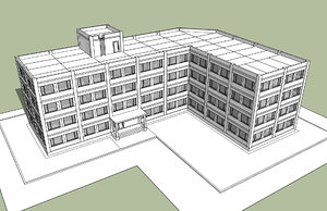 industrial office building 3D