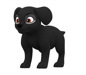 3D model labrador puppy