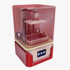 red printer 3D model