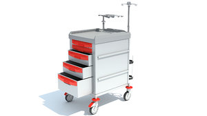 3D cleaning trolley