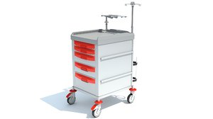 3D emergency trolley model