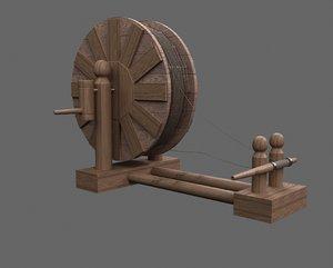 3D medieval sheave - spinning model