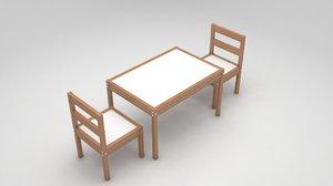 activity table 3D model