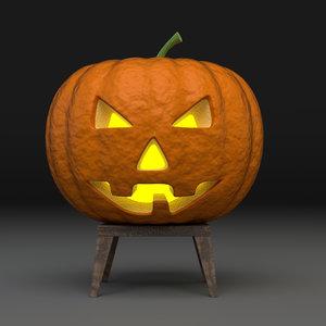3D halloween pumpkin lamp