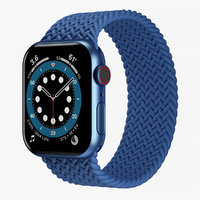 Apple Watch 6 Blue Aluminum Case with Braided Solo Loop