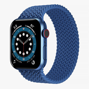 3D apple watch 6 blue model