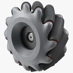 3D dji robomaster mecanum wheel model