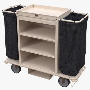housekeeping cart 3D