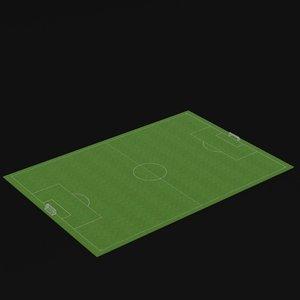 football soccer field 3D