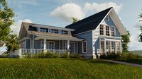 Classic style porch house without furniture