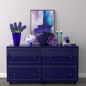 decorative set chest drawers 3D model