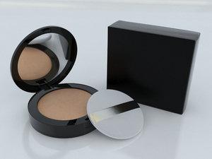 cosmetic foundation powder cushion 3D model