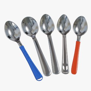 3D model spoon tableware silverware