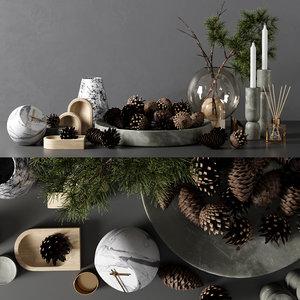 decorative set 11 3D model