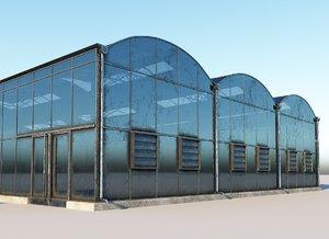 3D greenhouse house model