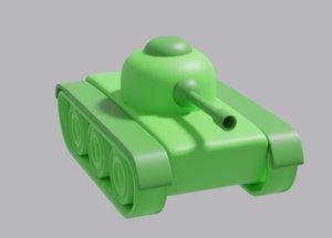 3D model cartoon tank