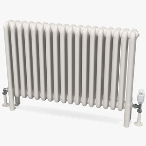 3D central heating radiator thermostat model