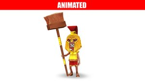 3D gladiator character animations model