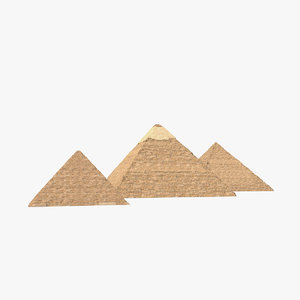 pyramids giza great 3D