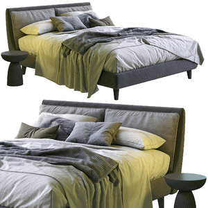 3D attico bed twils model