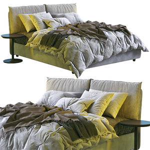 3D model twils bed blanca