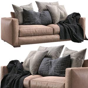 vittoria luisa leather sofa 3D