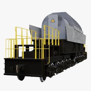 3D nuclear railroad transporter