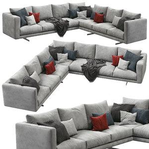 dee sectional sofa berto 3D model