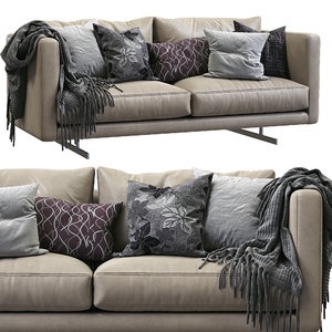 3D dee leather sofa berto