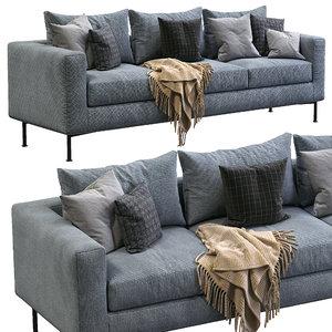 3D livingdivani sofa box model