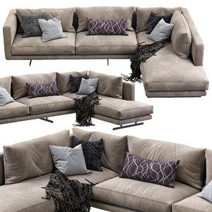 3D dee sectional sofa berto