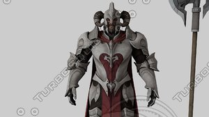 3D warrior rigged model