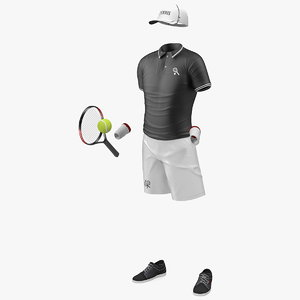 3D tennis wear set